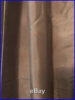 Pottery Barn Silk Dupioni Pole Top Curtain Panels Platinum gray 96 Set Of 2 NIP