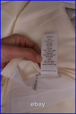 Pottery Barn Silk Dupioni rod pocket curtain drape panel 50x108, ivory 9147893