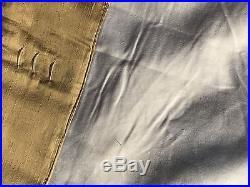 Pottery Barn Silk Multi Embroidered Drape Curtain Panel 50x84 Wheat New