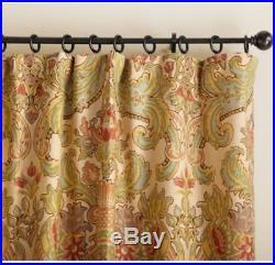 Pottery Barn Simone Drapes PAIR Linen Cotton 50 x 84 Pole Top