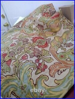 Pottery Barn Simone Palampore 2 Curtain Panels Linen Blend 50x108 Pole Pocket
