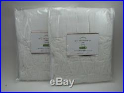 Pottery Barn Smocked Sheer Drapes Curtains Panel White S/ 2 63 #405