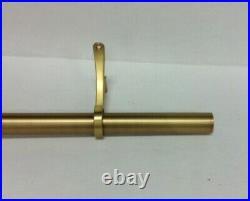 Pottery Barn Standard 1.25 Single Window Curtain Drape Rod XXLarge 108-144 brass