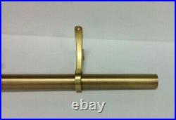 Pottery Barn Standard. 75 Single Window Curtain Drape Rod XLarge 108-144 brass
