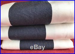Pottery Barn Sunbrella Set of 3 Awning Stripe grommet outdoor drapes 50x84 NEW