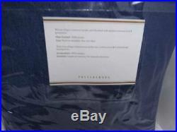 Pottery Barn Sunbrella Solid Indoor/Outdoor Grommet Curtain (2 Drapes)-Cobalt