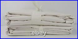Pottery Barn Sunbrella Solid Outdoor Grommet Curtain 50x 108 White S/ 2 #6988