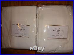 Pottery Barn TEXTURED COTTON TIE-TOP DRAPES-SET OF 2-WHITE-50 X 108-NEW With TAGS