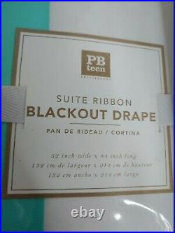 Pottery Barn Teen 84 Set of 2 Suite Ribbon Blackout Drapes Curtains Pool (#B23)