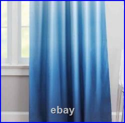 Pottery Barn Teen Blackout Drapes Curtains Ombre NWT 52x96 Royal Blue & White
