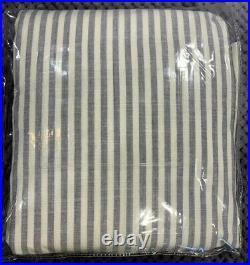 Pottery Barn Teen Ruffle Stripe Organic Curtain Set 52w X 84l, Navy, Free Ship