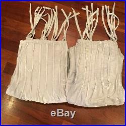 Pottery Barn Teen Set / 2 Shimmer Velvet Curtains Drapes Faint Gray 44 x 63 NEW