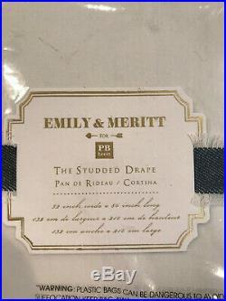 Pottery Barn Teen Set of 2 Emily & Meritt Studded Blackout Curtains 84 Ivory