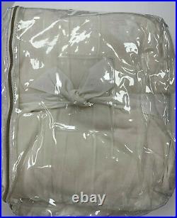 Pottery Barn Teen Set of 2 Shimmer Velvet Blackout Curtains Panels 96 Ivory