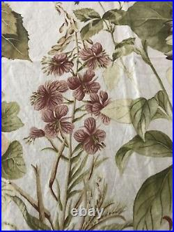 Pottery Barn Thistle Floral Print Fabric Shower Curtain