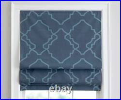 Pottery Barn Trisha Geo Print Roman Blackout Window Blind Curtain Shade 32x64
