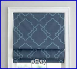 Pottery Barn Trisha Geo Print Roman Blackout Window Blind Curtain Shade 44x64