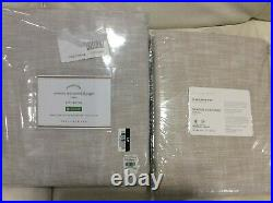 Pottery Barn Two (2) Seaton Textured Drapes Panels 50X84 NWT! Neutral Curtains