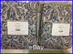 Pottery Barn Two (2) Sierra Drapes 50x96 Blue NIP