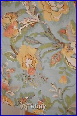 Pottery Barn Vanessa Blue Set 2 Linen Blend Curtain Panels 50 x 84 with Clamps