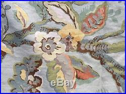 Pottery Barn Vanessa Floral Drapes 2 95 48 Panels