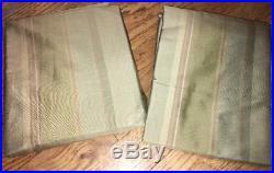 Pottery Barn Variegated Silk Stipe Drape Poll Top 50x84 Green 2 panels new fs