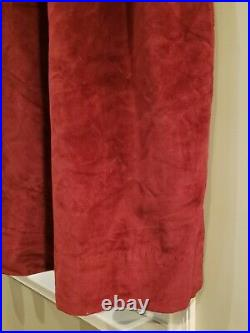 Pottery Barn Velvet Curtains Set of 2 Drapes 100 x 84 Double Width Pole Pocket