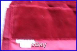 Pottery Barn Velvet Red Cardinal Theater Drapery/Curtains 48 X 108 Long
