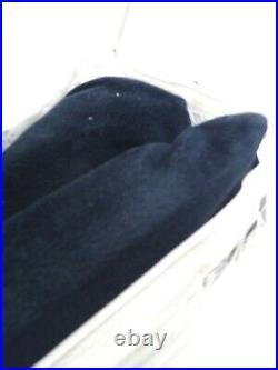 Pottery Barn Velvet Twill Cotton Lined Curtain Drape Navy 50x96 S/2 #F9