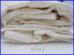 Pottery Barn Velvet Twill Drape Panel Curtain Cotton Line 50x108 Ivory S/2 9749C