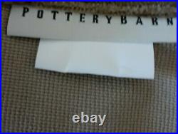 Pottery Barn Velvet Twill Rod Pocket Curtains 2 Panels 84 x 48 Olive Green