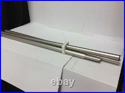Pottery Barn West Elm Oversized Metal Curtain Drape Rod ONLY 44-108 BRU Nickel