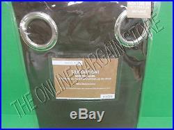 Pottery Barn West Elm Silk Dupioni Grommet Drapes Panel Curtains Espresso 48x108