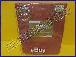 Pottery Barn West Elm Silk Dupioni Grommet Drapes Panels Curtains Rosehip 48x108