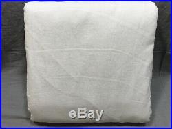 Pottery Barn White Classic Belgian Flax Linen 100x84 Blackout Curtain Drape