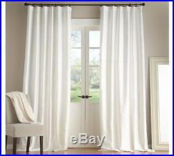 Pottery Barn White Dupioni Silk Curtains/Drapes Pole Pocket 104 X 96