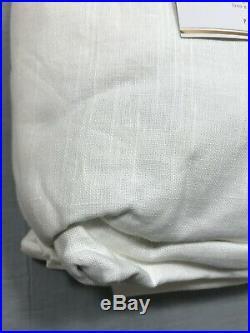 Pottery Barn White Emery Linen/Cotton Double Wide Blackout Drape 84 Curtain