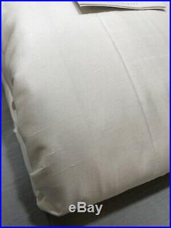 Pottery Barn White Silk Double Wide Blackout 104x108 Curtain Drape