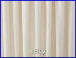 Pottery Barn emery linen cotton 50x96 BLACKOUT drape IVORY two PANELS