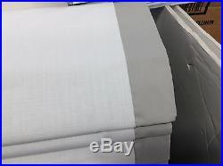Pottery Barn kids parker newport Roman Shade Blinds window curtain gray 44x64