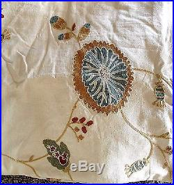 Pottery Barn margaritte embroidered 50x84 drapes multi color TWO PANELS NWOT