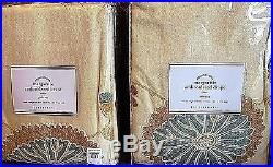 Pottery Barn margaritte embroidered 50x96 drape multi color TWO PANELS