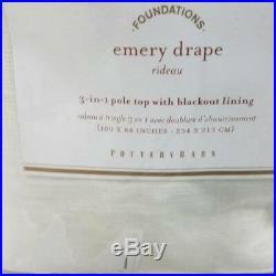 Pottery Barn set of 2 100x84 Blackout Emery drapes Curtains Ivory