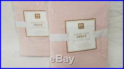 Pottery Barn set of 2 Classic Linen Blackout Curtains 44x96 Blush pink