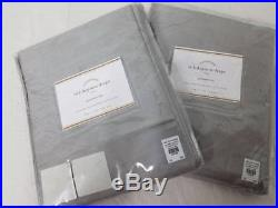 Pottery Barn set of 2 DUPIONI SILK GROMMET DRAPES platinum Gray 50x84