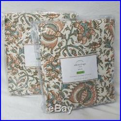 Pottery Barn set of 4 Selena Print Curtain Drapes 50x96