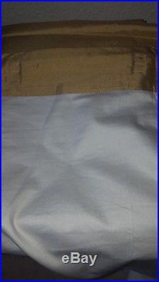Pottery barn 100% Silk Gold Drapes/ Curtains 50 × 96 A PAIR (2)