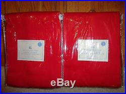 Pottery barn KIDS TWILL BLACKOUT PANELS-SET OF 2-84 LENGTH-RED-NWT