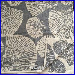 Pottery barn Morgan shower curtain shell JACQUARD bath TOWEL set 4pc
