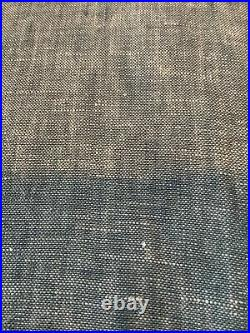 Pottery barn belgian flax linen curtains 96 chambray #1579